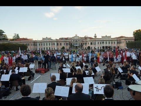 La cerimonia di apertura degli Europei di canottaggio