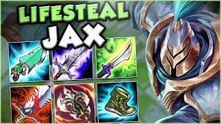 THIS NEW FULL LIFESTEAL JAX BUILD IS GENIUS!! NEW LIFESTEAL JAX TOP GAMEPLAY! - League of Legends