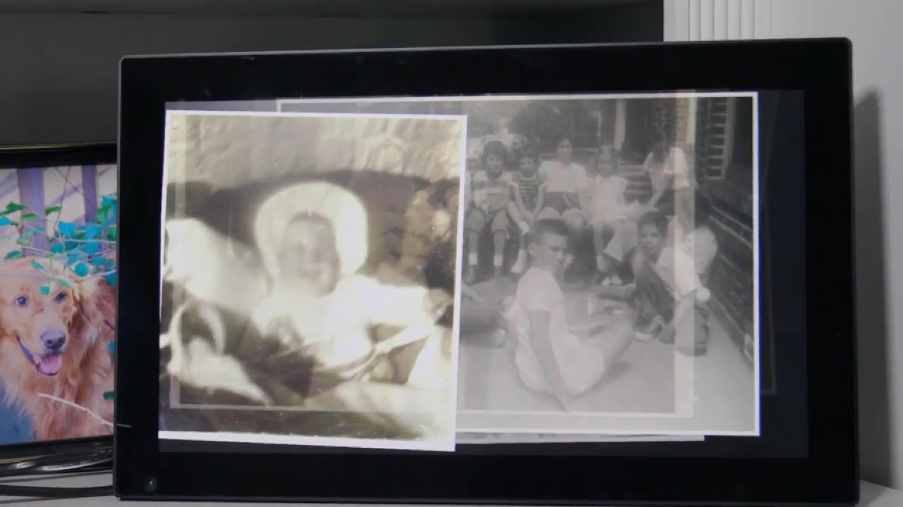 Ralph scans and uploads 300 photos of memories on his mom's Nixplay frame