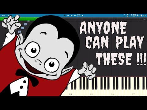 10 Spooky Songs for Halloween ANYONE Can Play On Piano - Tutorial