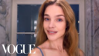 How Supermodel Natalia Vodianova Combats Jet-Lagged Skin   Beauty Secrets   Vogue