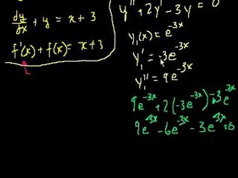 A thumbnail for: First order differential equations
