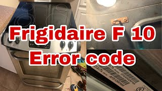 How to Fix #Frigidaire #Stove F10 Error Code | Oven Taking too Long to Cook | Model FFES3025PSA