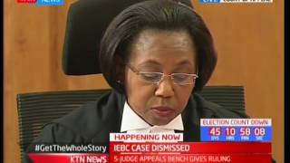 IEBC case on announcement of presidential results at constituency level dismissed