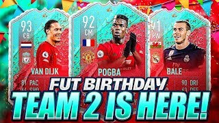 INSANE MARKET!! FUT BIRTHDAY SECOND TEAM IS HERE!! FIFA 20 Ultimate Team