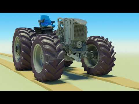New Holland T5 Terraglide™ front axle suspension