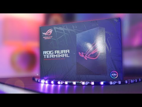 The Ultimate RGB Desk Setup? 😍 – ROG Aura Terminal & Halo Review!