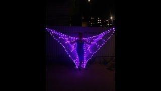 Как сделать светящиеся крылышки для танца