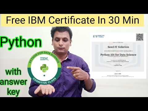 Python free Certification | ibm Free Certificate Data Science - YouTube