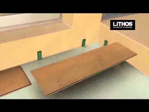 Posa dei pavimenti laminati flottanti e istruzioni