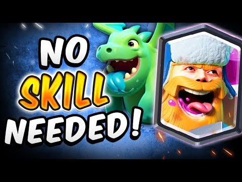 THIS DECK ISN'T FAIR! NO SKILL NEEDED — Clash Royale