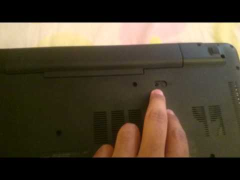 How to remove Acer E 15 touch battery