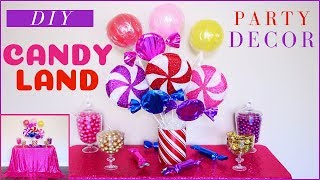 DIY Candyland Party Decorations | DIY Party Decor | DIY Christmas Party