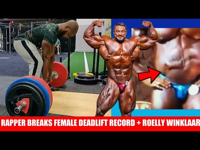 Rapper Identifies as Female to Break Female Deadlift Record?? Roelly  Winklaar Fixing his Midsection