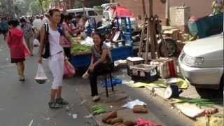 preview picture of video '長春の小さな市場 (南湖の北東の市街にて) A Market in Changchun, China'