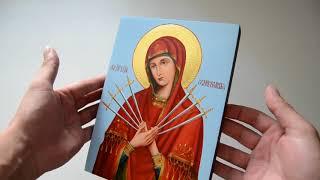 Писаная икона Богородица Семистрельная от компании Іконна лавка - видео