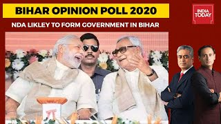 Opinion Poll On Bihar Elections: With 133-143 Seats, NDA Likely To Form Government In Bihar - Download this Video in MP3, M4A, WEBM, MP4, 3GP
