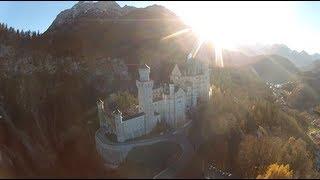 Neuschwanstein Castle Aerial View FPV Flight