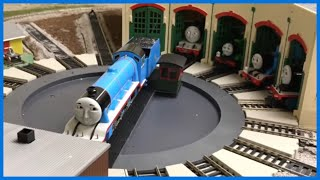 Motorized Turntable At Tidmouth Sheds - Thomas And Friends Trains