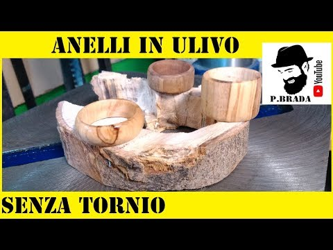 Anelli in legno d'ulivo by Paolo Brada DIY