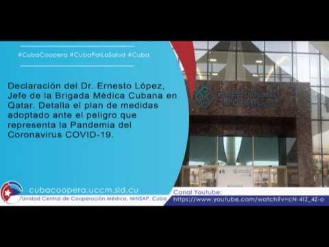 Profesionales de la salud cubana en Qatar luchan contra el Covid-19