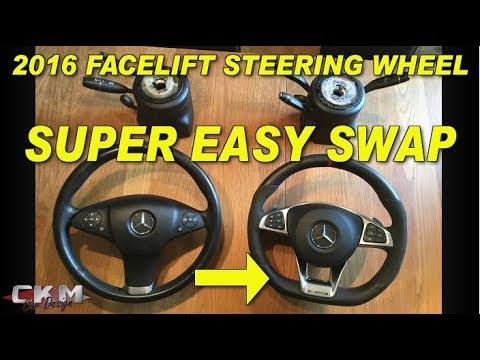 Mercedes Facelift steering wheel retrofit W212 W204 W166 W176
