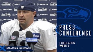Seahawks Kicker Sebastian Janikowski Preseason Week 3 Press Conference
