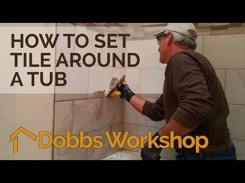How to Set Tile Around a Tub - Bathroom Remodel