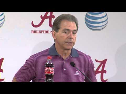 Saban Presser Texas A&M Monday