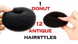 1 Donut 12 Quick Hairstyles || Ladies Hair Style || Medium Length Hairstyles || Nice Hairstyles