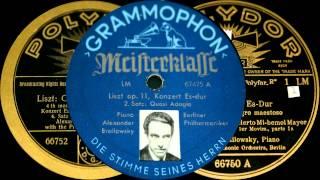 Alexander Brailowsky plays Liszt Piano Concerto No.1 (1928)