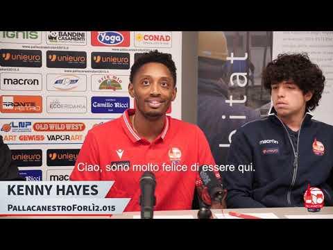 La presentazione di Kenny Hayes
