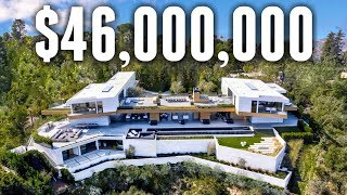 INSIDE A $46 Million Minimalist Beverly Hills MEGA MANSION
