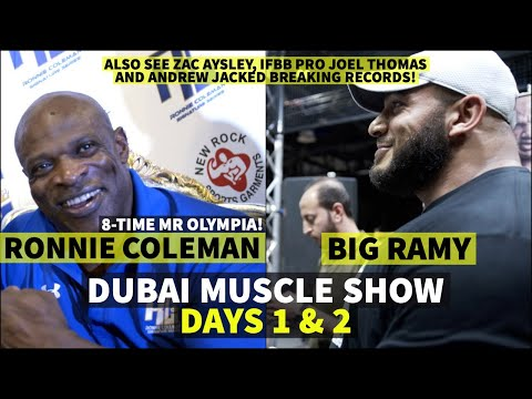 A MINUTE WITH RONNIE COLEMAN AND BIG RAMY!