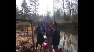 Rzeka Isłocz na Białorusi około 40km od Mińska.
