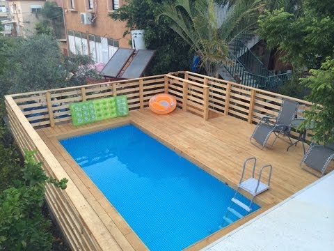 how to build a deck around a pool. Black Bedroom Furniture Sets. Home Design Ideas