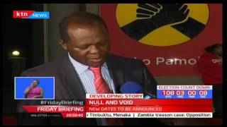 Raphael Tuju cancels all Jubilee nominations after a spate of violence across the country