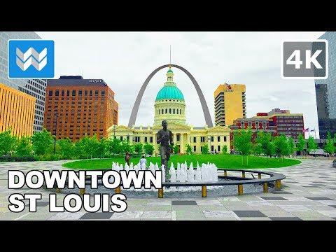 Walking tour of Downtown St Louis, Missouri 【4K】