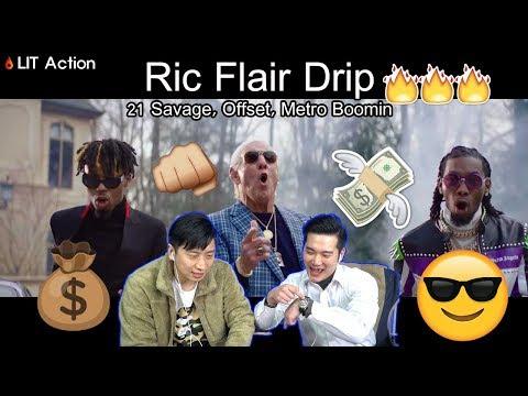 ENG [LIT Action] 21 Savage, Offset, Metro Boomin - Ric Flair Drip [Asian reaction] (Korean guys)