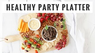Plant-Based Charcuterie Board | Easy, Healthy Fall Party Foods | Healthy Grocery Girl