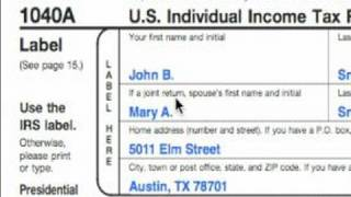 How To Complete A 1040A Tax Form : 1040A Label And Exemption Tips