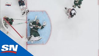Devan Dubnyk Clearly In Pain As Head Hits Off Ice After Collision