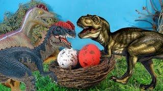 МЕГАЛОЗАВР и ЯЙЦО ДИЛОФОЗАВРА. Чье второе яйцо? ДИНОЗАВРЫ для детей. НОВЫЕ мультики
