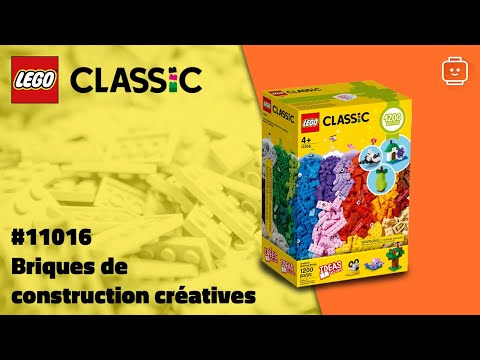 Vidéo LEGO Classic 11016 : Briques de construction créatives