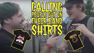 Calling People Out On Their Band Shirts