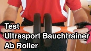 Test Ultrasport Bauchtrainer Ab Roller | Ultrasport Ab Roller | Ab Roller Übungen | Bauchroller