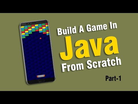 Creating A Brick Breaker Game in Java | Part 1 of 2 | Eduonix