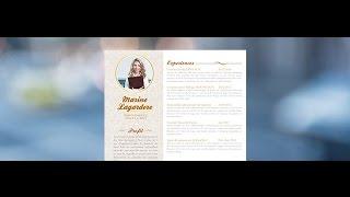 "CV Original ""Aimable"" - by Mycvfactory"