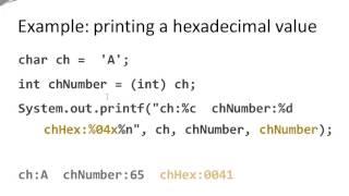 Java Basics - char