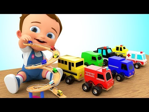 Learn Colors For Children With Baby Play City Vehicles